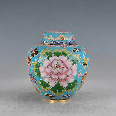 Chinese Cloisonne Hand-made Flowers Pot JTL1003