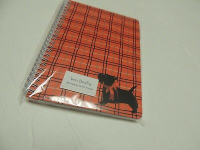 Vera Bradley MINI NOTEBOOK with pocket scottie dogs red plaid  NWT
