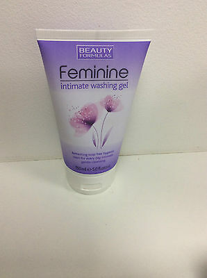 2 X  BEAUTY FORMULAS Feminine Intimate Washing Gel 150ml