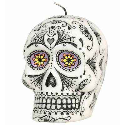 Day of the Dead Sugar Skull Candle Halloween Party Decoration Prop