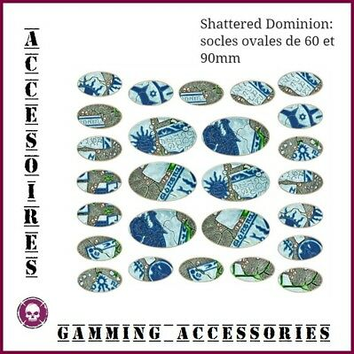 Citadel Shattered Dominion Oval Bases Socles Ovales Warhammer Aos