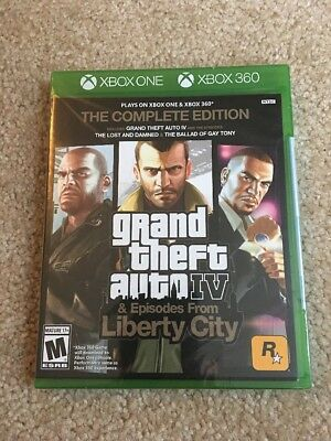 Grand Theft Auto IV GTA 4 Complete Edition Xbox 360 Xbox One New Sealed