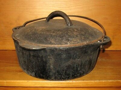 Antique Vintage Griswold Cast Iron Tite Top Dutch Oven 1278