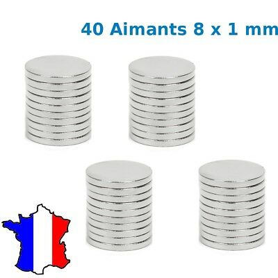 lot 40pcs Aimant 8x1 mm Néodyme permanent cylindre: Photo, Magnet, Fimo 8*1mm