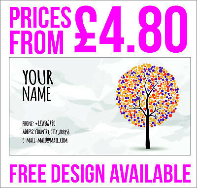 Business Cards Single Sided , great range of templates or send yours, 350gsm