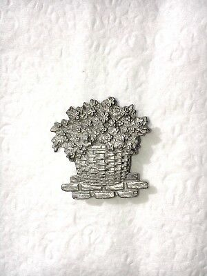 LONGABERGER Pewter Magnet Wild Flower Basket