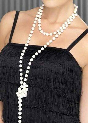 1920s Flapper Girl Pearl Beads