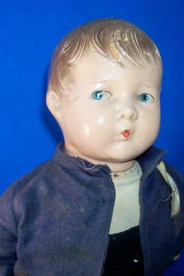 """Antique 14"""" Effanbee Composition Boy Doll Whistling Jim from 1916 - So Cute!"""