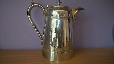 Antique Silver Plated 2 Pint Coffee/Hot Water Lidded jug 539g Floral display?