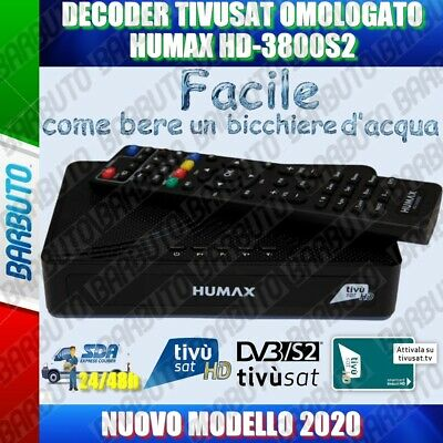 Decoder Tivusat Hd Originale Humax 6800S + Tessera Hd Inclusa