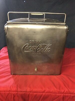 Vintage Acton Coca Cola Stainless Steel Cooler Ice Chest
