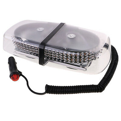 Red 240 LED Car Emergency Flashing Strobe Oval Light with Magnetic Mount
