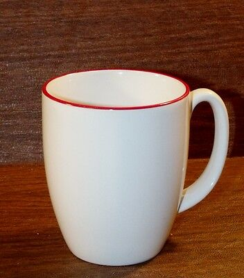 6 Corelle RED FLORAL Mugs/Cups
