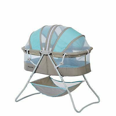 Dream On Me Karley Baby Bassinet Blue and Grey