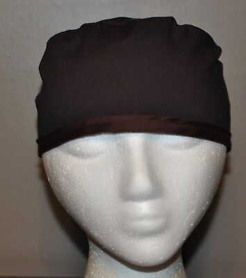 Men's Scrub Cap/Hat Solid Espresso/Chocolate Brown - One size fits most