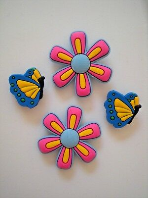 Clog Shoe Charms Button Plug Accessories WristBand Butterfly Flower