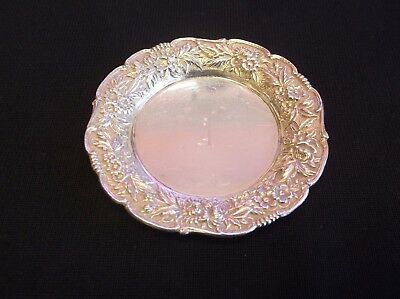 S. Kirk & Son Inc. Sterling 17F Silver Dish/tray Monogram Repousse Vintage