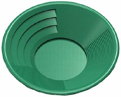 14-Inch Green Gold Pan Plastic Body, Dual Riffles, Easier to Trap Gold GP1014G14