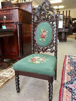 Highly Carved Wood Chair - Mitchell & Rammelsberg or Alexander Roux