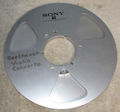 """Vtg SONY R-11A Metal Reel 10 1/2"""" x 1/4 Aluminum Take Up For Tape Player J0633"""