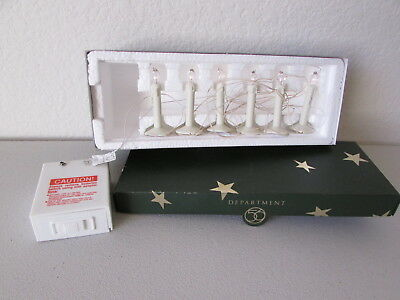 Dept 56 Snowbabies Set of 6 Candle Shape Lights 69025 EUC Battery Operated