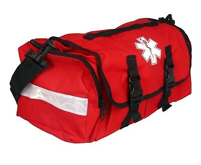 """First Responder EMT Paramedic On Call Trauma Bag With Reflectors Red 17""""x7x10"""""""
