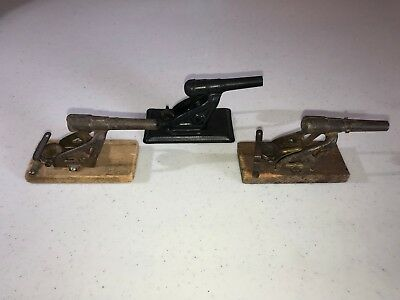 Cast Iron * Lot Of 3 * Cap Cannons