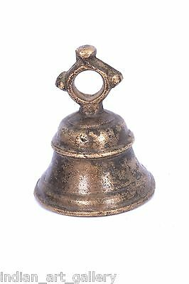 Rare Vintage Handicraft High Age Brass Ritual Temple Bell, Good Sound. i9-25