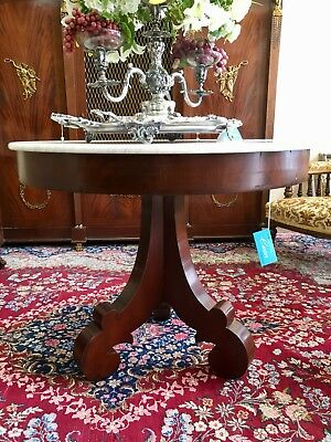 American Classical Empire Mahogany Center Table