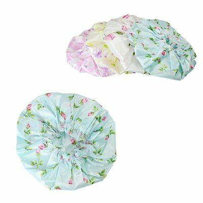 Waterproof Assorted Bath Floral Printed Shower Hair Conditioning Colouring Cap