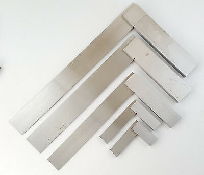 """New Steel Engineers  2"""" 3"""" 4"""" 6"""" 8"""" 10"""" 12"""" Try Square Set Woodwork Carpenter"""