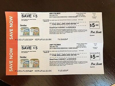 Similac Checks - Coupons - Worth $10 in Formula, Expires 2/14/18