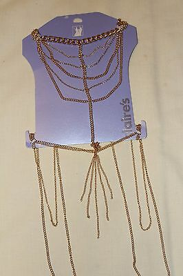 6 Gold Body Chains Bundle New with Tags  Body Jewellery Joblot Wholesale