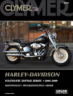 Harley Davidson FLSTF FLSTFI Fat Boy Screamin' Eagle 06-09 Clymer Manuale M250