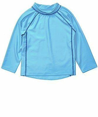Leveret Blue Long Sleeve Rash Guard Sun Protected UPF + 50 (12M-5 Toddler)