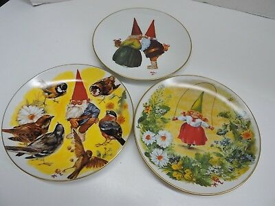 Rien Poortvliet 3 Bright Plates VALENTINE'S DAY  FREE SHIPPING