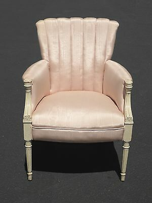 Gorgeous French Provincial Off White Lite Pink Accent CHAIR Feutiels Louis XVI