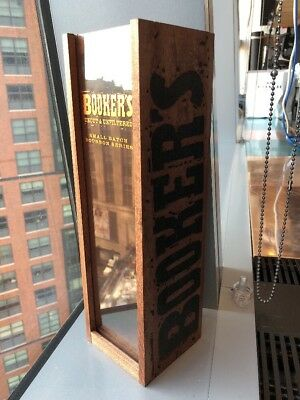 Bookers Uncut & Unfiltered Small Batch Bourbon Series Wood Bottle Box