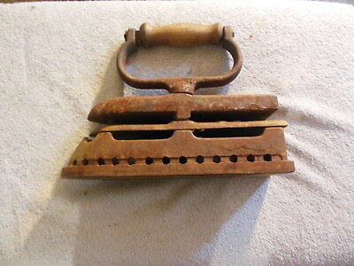 ANTIQUE/VINTAGE HEAVY 17.LBS COAL IRON LATE 1800's-EARLY 1900's