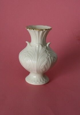 Vintage Lenox Ivory China with 24K Gold Trim Small Elfin Bud Vase