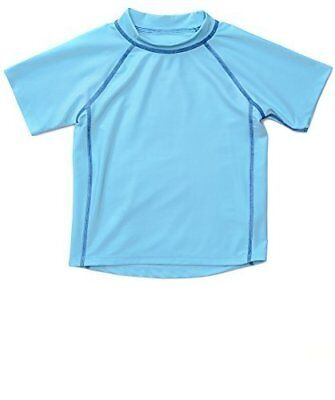 Leveret Blue Short Sleeve Rash Guard Sun Protected UPF + 50 (12M-5 Toddler)
