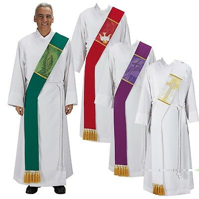 Symbols of the Liturgy Deacon Stoles Set of 4 For Any Occasion