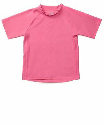 Leveret Pink Short Sleeve Rash Guard Sun Protected UPF + 50 (12M-5 Toddler)