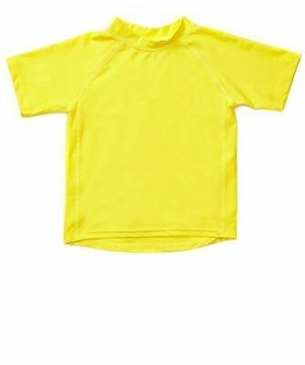 Leveret Yellow Short Sleeve Rash Guard Sun Protected UPF + 50 (12M-5T)
