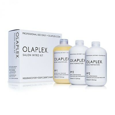 Olaplex Salon Intro Kit Original No.1 525 ml + 2x No.2. UK SELLER. 100% Original