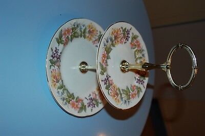 Paragon cake stand 2 tier 6ins and 8 ins. excellent vintage stand