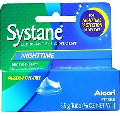 Systane Nighttime Lubricant Eye Ointment  3.5g (Pack of 6) Exp: 4/21