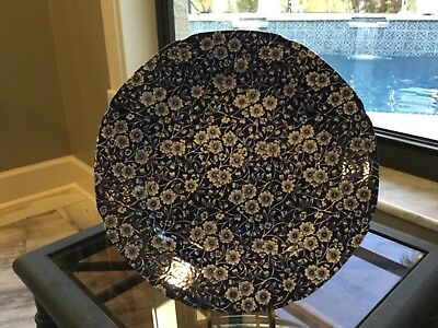 Staffordshire England Crownford Calico Blue Chintz Dinner Plate