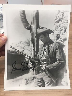 "James ""Jimmy"" Stewart Actor Western Cowboy Hand Signed Autograph on 8 x 10 Photo"