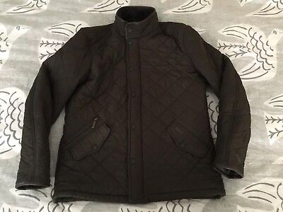 Barbour Powell Jacket Men's M Medium Quilted Fleece Lining